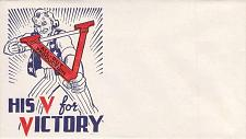"Buy WWII US Patriotic Unused, Unsealed Envelope ""His V for Victory"" Uncle Sam"
