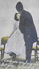 Buy I Can't See Anybody Else But You. Your're It Romance Vintage Postcard