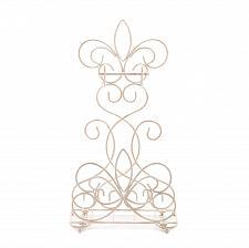 Buy *15864U - Fleur De Lis Ivory Metal Bathroom Toilet Paper Magazine Rack