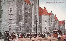 Buy Union Station, St. Louis MO, Tram Vintage Postcard