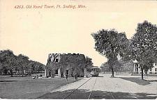 Buy Old Round Toer, Ft. Snelling. Minn with Tram Vintage Postcard