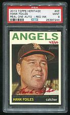 Buy 2013 TOPPS HERITAGE REAL ONE RED AUTO HANK FOILES PSA 9 MINT (25397244)