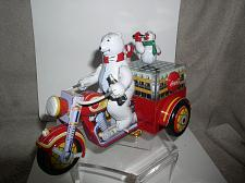 Buy Motorcycle with Polar Bear Tin wind up Coca-Cola toy with original key