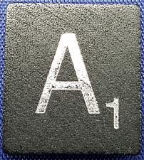 Buy Scrabble Tiles Replacement Letter A Black Wooden Craft Game Piece Diamond Ann.