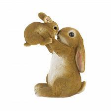 Buy *18803U - Playful Mom & Baby Rabbit Bunny Figurine