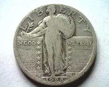 Buy 1928 STANDING LIBERTY QUARTER VERY GOOD VG NICE ORIGINAL COIN FROM BOBS COINS