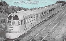Buy The Flying Yankee Between Boston and Bangor Maine Vintage Postcard