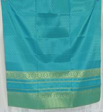 Buy Thai Tradition Blue Synthetic Silk Fabric For Top Skirt Wedding dress
