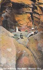Buy Interior of Cave in Red Rocks, Morrison Colorado Vintage Postcard
