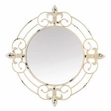 Buy *18769U - Antique White Fleur-De-Lis Wall Mirror