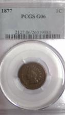 Buy 1877 INDIAN HEAD PENNY. PCGS GRADED G-6. KEY DATE. LOOKS BETTER THAN GOOD-6.