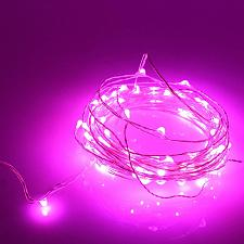 Buy :10846U - 20 LED Copper Wire Pink Fairy Lights