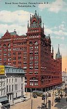 Buy Broad Street Station, Pennsylvania Railroad, Philadelphia Vintage Postcard