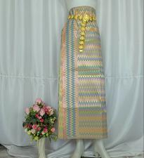 Buy Myanmar Traditional Fashion Fabric for Clothing Dress Long longyi Skirt LY15