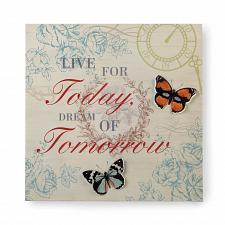 Buy *17430U - Butterfly Live Today Dream Tomorrow Postcard 3-D Iron Wall Art