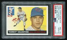 Buy 2004 TOPPS HERITAGE REAL ONE RED AUTO CORKY VALENTINE PSA 10 GEM MINT (28614286)