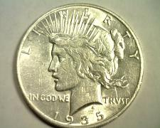 Buy 1935-S PEACE SILVER DOLLAR ABOUT UNCIRCULATED AU NICE ORIGINAL COIN BOBS COINS