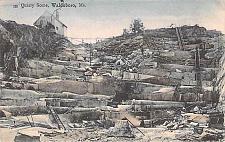 Buy Quarry Scene Waldoboro ME,Tinted Color Vintage Postcard