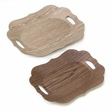 Buy 15177U - Wood Grain Scallop Edge Accent Display Trays