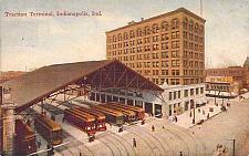 Buy Traction Terminal Trams Indianapolis Indiana Railroad Postcard