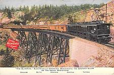 Buy The Olympian, Electically Operated Train Chicago Milwaukee Vintage Postcard