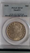 Buy 1830 CAPPED BUST HALF DOLLAR. PCGS GRADED XF-45- SMALL-O. LOOKS UNDER GRADED.