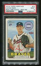 Buy 2018 TOPPS HERITAGE REAL ONE RED AUTO LUCAS SIMS PSA 9 MINT (41680231)