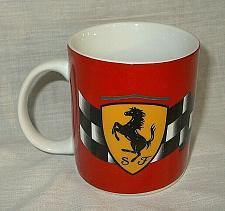 Buy Ferrari Red Stallion Shield Checkered Flag Coffee Mug Tea Cup