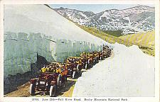 Buy June 25th Fall River Road, Rocky Mountain National Park Autos Vintage Postcard