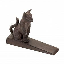 Buy *15992U - Kitty Cat Brown Cast Iron Wedge Style Door Stopper