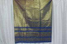 Buy Thai Tradition Blue Synthetic Silk Fabric For Top Skirt Wedding dress E3