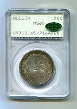 Buy 1935 HUDSON COMMEMORATIVE HALF PCGS MS65 CAC RATTLER SUPER PREMIUM QUALITY PQ