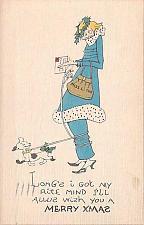 Buy Ilustrated Humor Chritsmas, Rite Mind Vintage Postcard
