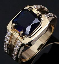 Buy Elvis Presley TCB NY GP Concert Jumpsuit Stage Men Ring Sapphire Finger Wedding