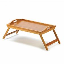 Buy D1224U - Bamboo Serving Table Wood Tray Folding Legs