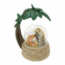 Buy *18566U - Nativity Scene Palm Tree Snow Globe