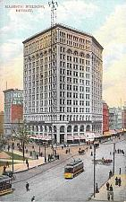 Buy Majestic Building, Detroit, Electric Tram, Mich. Vintage Postcard