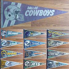 Buy VINTAGE NFL PENNANT COWBOYS,DOLPHINS,REDSKINS,49ERS,BEARS,RAMS,JETS,LIONS,EAGLE