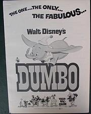 Buy Disney magic Dumbo History Advertising Promotional item