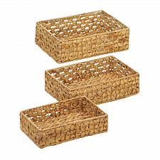Buy *18775U - Wicker Nesting Basket Tray 3pc Set