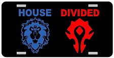 Buy House Divided WOW Alliance Horde License Plate Car Tag Vanity Plate Fallout