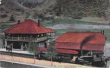 Buy Pike's Peak Cog Road Depot, Manitou, Colorado Railroad Vintage Postcard