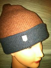 Buy Beanie One Size Rust and Navy Roll Brim NWT`s