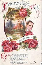 Buy Friendship's Wish, The Best of Luck Illustrated Vintage Postcard