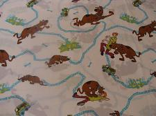 Buy Vintage 1998 Scooby Doo Dan River Flat Twin Sheet Cutter Fabric Material Crafts