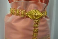 Buy Metal gold color belt Thai Laos Lao traditional for women wedding dress # B4