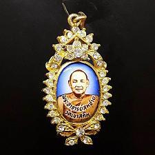 Buy Rare Brooch Gems LOCKET LP SOMCHAI WAT KHAO SUKIM Thailand Buddha Amulet Wealth
