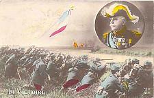 Buy WWI French Patriotic - La Victoire - Color Tinted Vintage Postcard Used