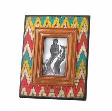 Buy *15676U - Ikat Chevron Pattern Wooden 4 X 6 Photo Frame