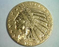 Buy 1913 FIVE DOLLAR INDIAN HEAD GOLD ABOUT UNCIRCULATED AU NICE ORIGINAL COIN